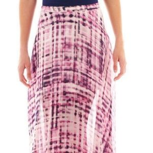 Decree long chiffon maxi skirt